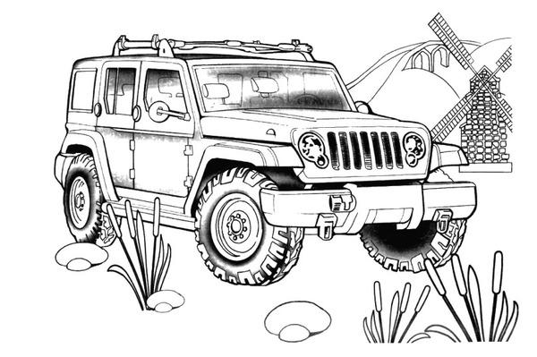 Cars Vrachtwagen Kleurplaat Jeep Mamydzieci Pl
