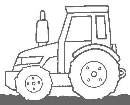 Трактор раскраска - 2