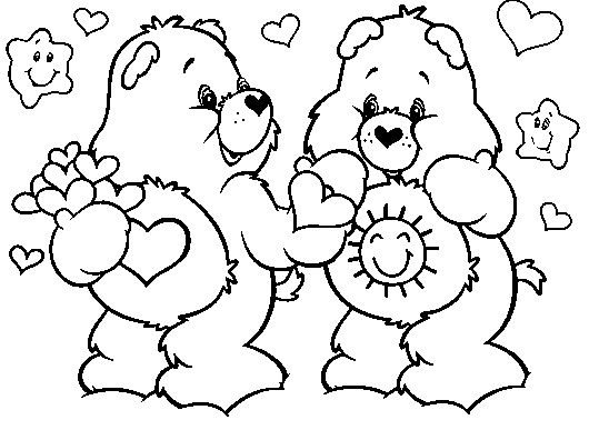 care bear coloring pages christmas - photo#39