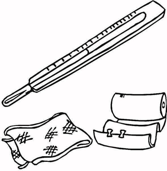 Free doctor tools kit coloring pages for Doctor bag coloring page