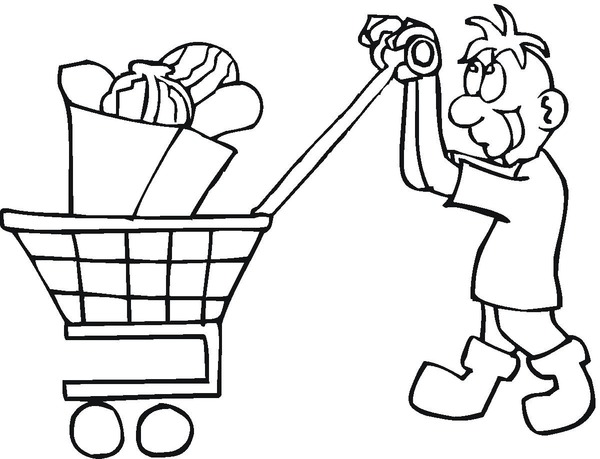 supermarket coloring pages - photo#22