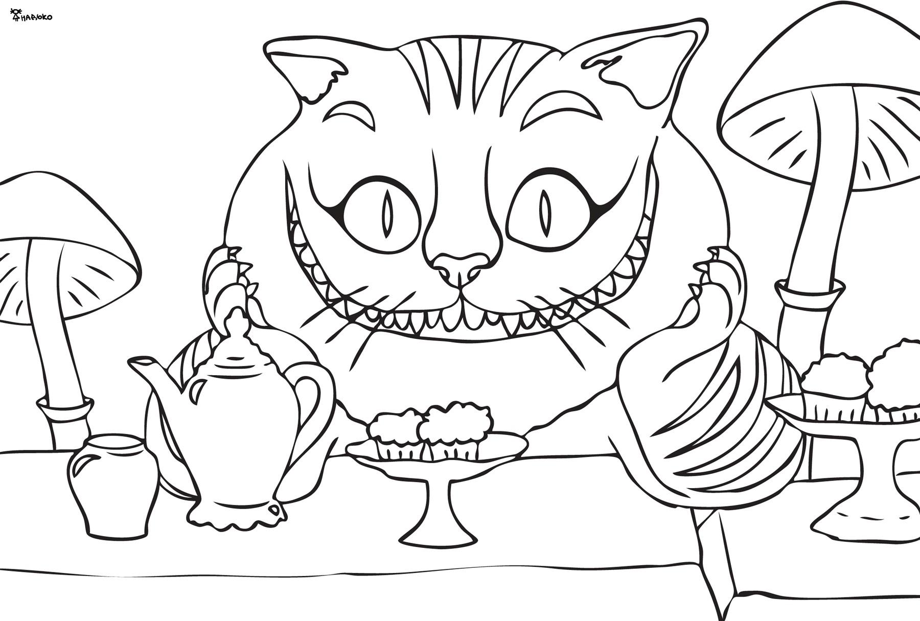 Kot Z Cheshire Pokoloruj Mamydziecipl