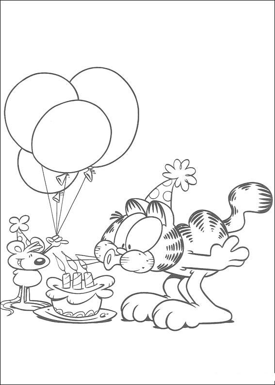 Urodziny Kolorowanka Garfield Mamydziecipl