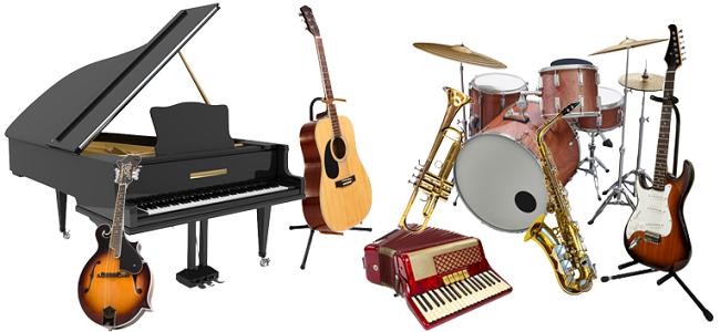 Znalezione obrazy dla zapytania instrumenty muzyczne