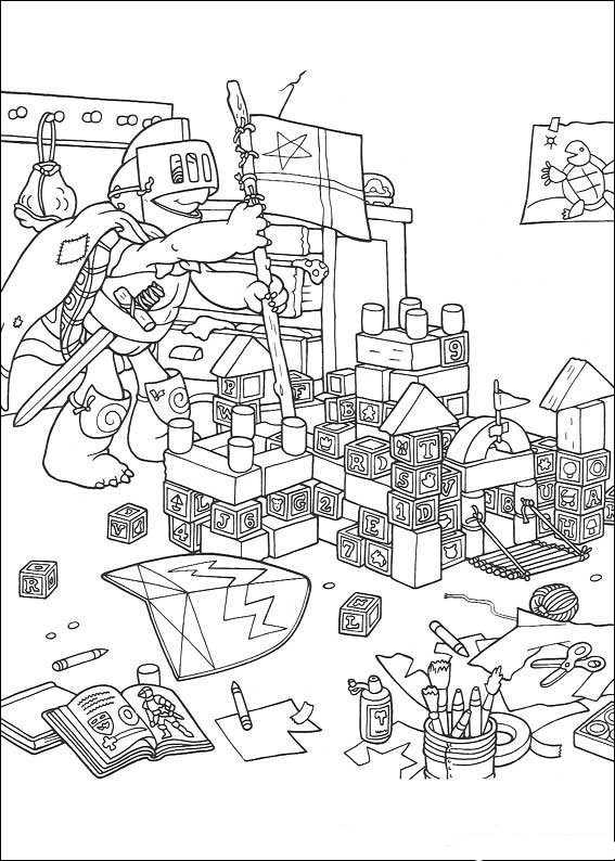 Zabawa w Rycerza- kolorowanka Franklin