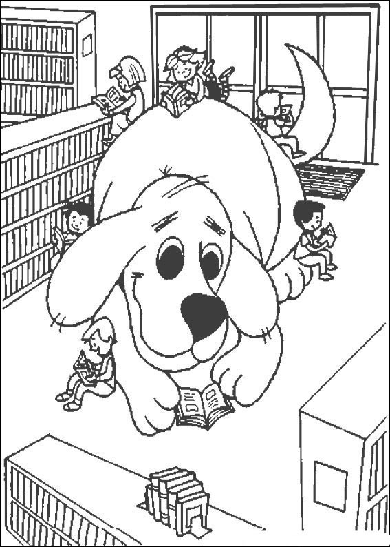 Kolorowanki clifford i malowanki do druku for Clifford coloring pages