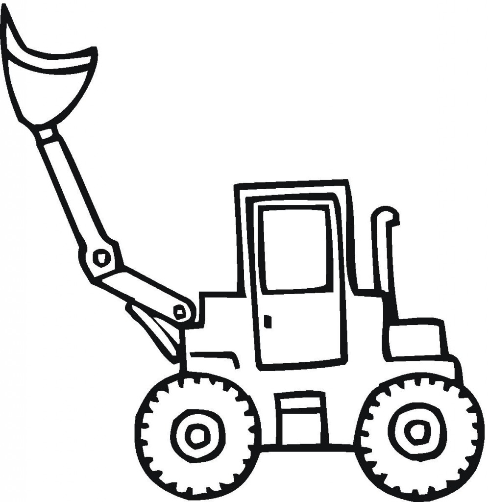 Kolorowanka Traktor Do Wydruku