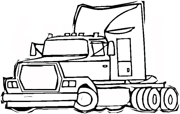 A Classic Kids Drawing Of A Day With The Rainbow Coloring Page 2 besides Kolorowanki Ciezarowki besides Cistern Truck Cartoon Coloring Page further 40 Free Printable Truck Coloring Pages Download moreover Tractor outline clip art. on semi truck coloring pages
