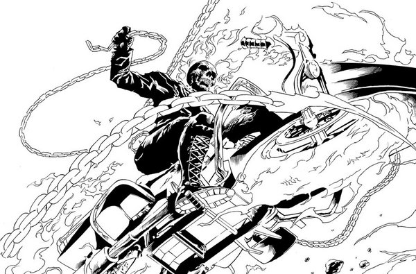 marvel ghost rider coloring pages - kolorowanki ghost rider i malowanki do druku