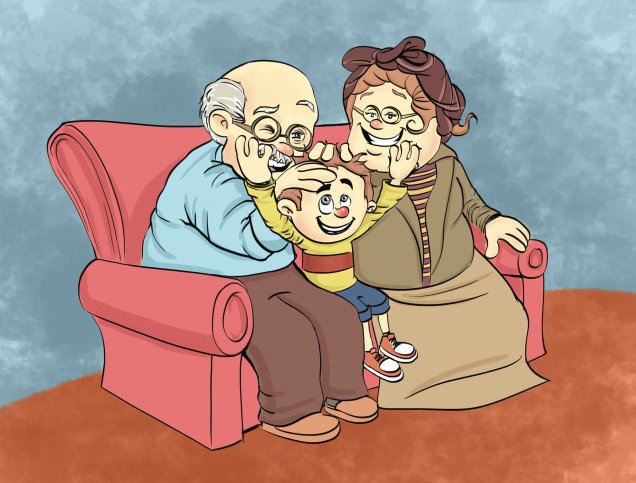 my grandfather and grandmother A grandma is جدة (jidda) (i'm sorry but gidda is not arabic it's egyptian and there's a difference) a grandpa is جد (jidd) my grandma جدتي (jiddati) my grandpa جدي (jiddi) when you're talking to your grandparents or you wanna say something like grandpa said this or did that there are.