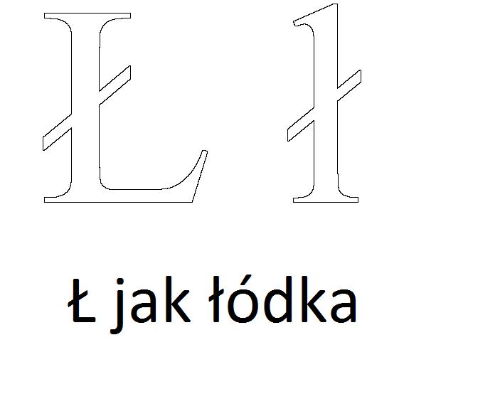 kolorowanka ł litera