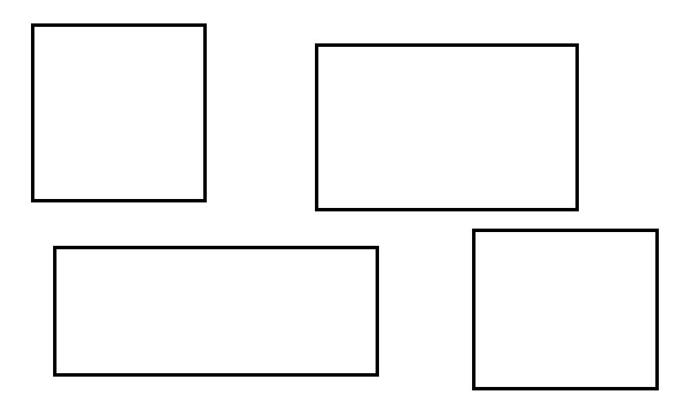kolorowanka kwadraty i prostokąty